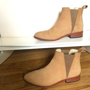 Nisolo Boots Womens 7 Beige Tan Suede Leather